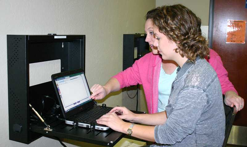 by: JASON CHANEY - The Crook County Health Department recently installed two laptop stations for people to use as they navigate the Cover Oregon website.
