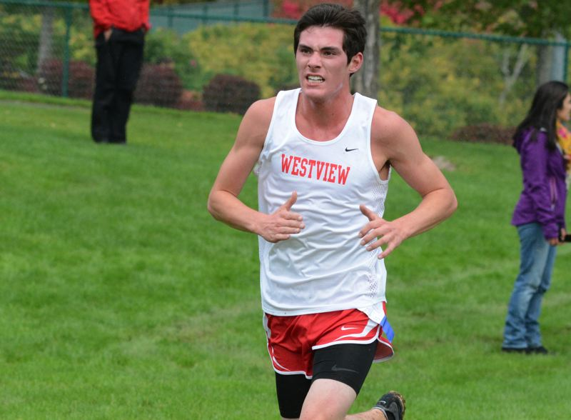 by: TIMES PHOTO: MATT SINGLEDECKER - Westview senior Jake Schmerber was the Wildcats first finisher at THPRD last Wednesday with a 17:04 finish.