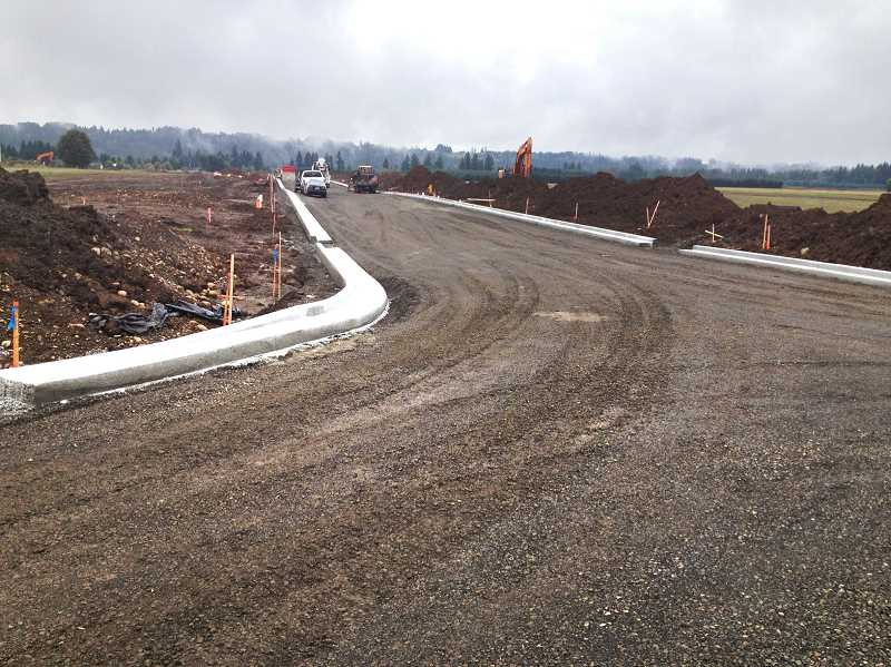 by: MICHAEL PARK - The new road on the Estacada Industrial Campus will be completed in November.