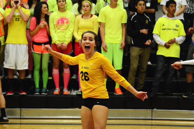by: JOHN WILLIAM HOWARD - Senior Madison Kaplan is part of a senior class who has dominated the Northwest Oregon Conference on the volleyball court this season. Head Coach Tom Ray, though he intends to focus on a league championship first and foremost, believes he has a trophy team on his hands.