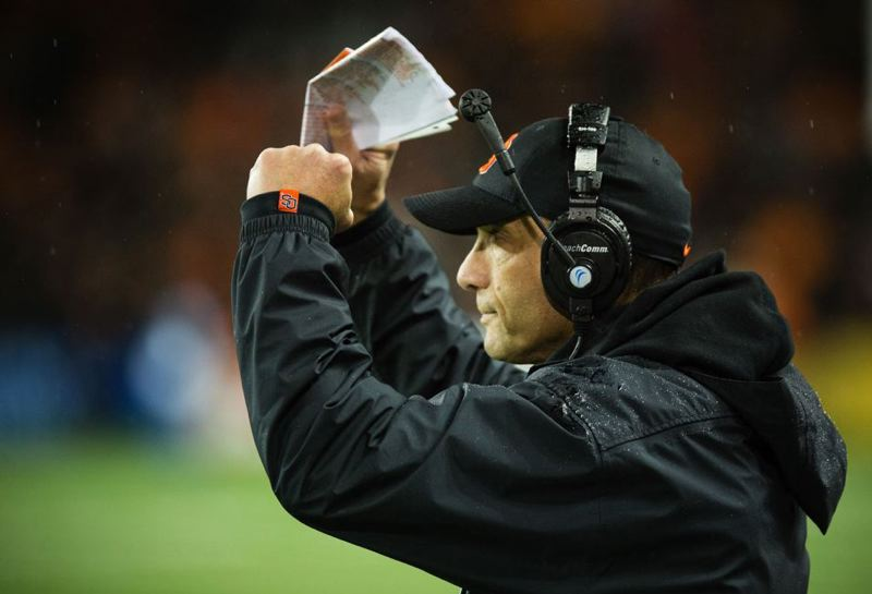 by: TRIBUNE FILE PHOTO: CHRISTOPHER ONSTOTT - Mike Riley's Beavers have won five in a row, despite various injuries to the offensive line and the lack of a running game.