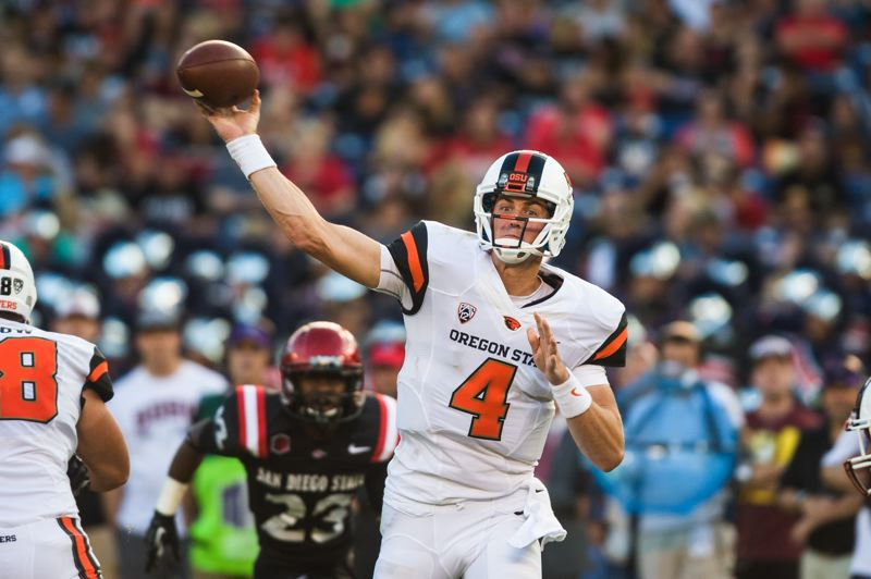 by: COURTESY OF KARL MAASDAM/OREGON STATE UNIVERSITY - The performance of Oregon State's Sean Mannion through the first half of the 2013 season has impressed former Beaver quarterbacks, from Heisman Trophy winner Terry Baker to OSU assistant coach Lyle Moevao.