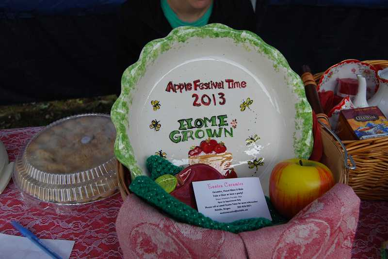 by: LOIS AND DENNIS RAY - This First prize in the Apple Pie Contest at the festival went to Michelle Blank
