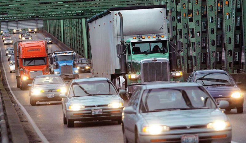 by: TRIBUNE FILE PHOTO: KYLE GREEN - TriMet is working on a funding plan to replace the aging Interstate 5 Bridge without help from Washington state.