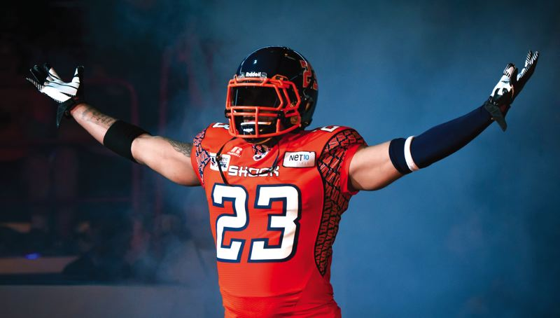 by: PHOTO COURTESY: SPOKANE SHOCK - Patrick Stoudamire Jr., just completed his third season in the Arena Football League, helping the Spokane Shock to the league semifinals in 2013.