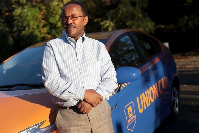 by: TRIBUNE PHOTO: JONATHAN HOUSE - Six months ago Kedir Wako started Union Cab despite naysayers who said their wasnt enough business to support new cabs in Portland. Wakso says today, his drivers are making more money than many drivers at long-established cab companies.