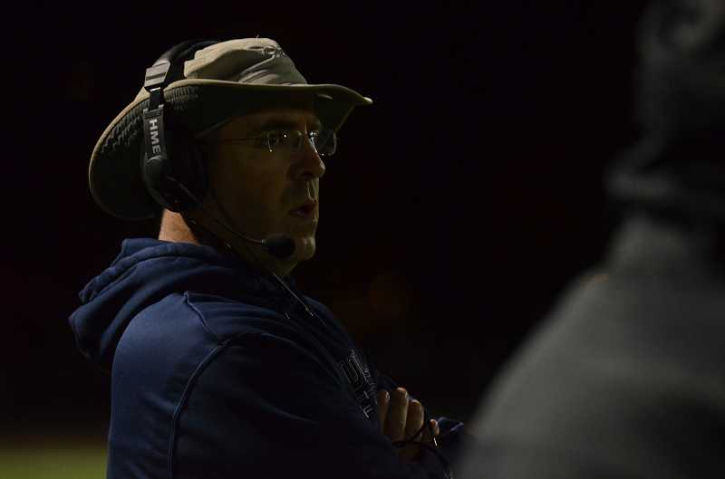 by: JEFF GOODMAN / FILE - Coach Adam Guenther (above) and the Wilsonville football team have forfeited their league win over Milwaukie after reporting a violation to the OSAA.