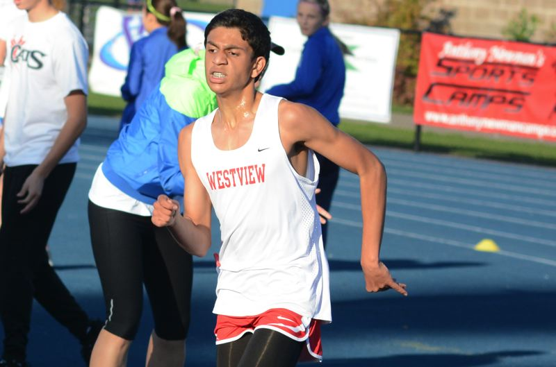 by: TIMES PHOTO: MATT SINGLEDECKER - Westview sophomore Nikhil Anand was the Wildcats top finisher at Aloha, taking seventh overall.