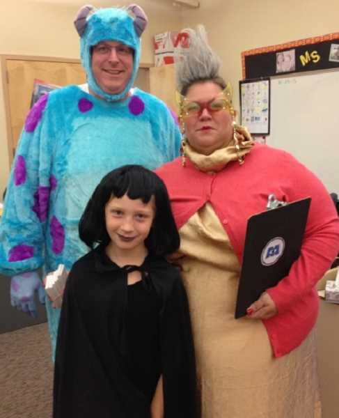 by: SUBMITTED  - Students at Boones Ferry Primary School were invited to trick-or-treat at a school-sponsored event Oct. 25. The Krecklow family, including parents Mike and Lisa, and children Meredith, 8, and George (not pictured) were among those showing Halloween spirit.