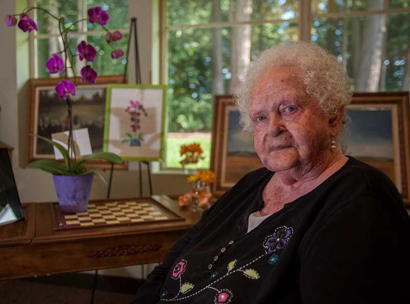 by: JOSH KULLA - Wilsonville resident Jean Acker was honored for a lifetime of selfless giving and artistic expression at Marquis Wilsonville, where she lives.