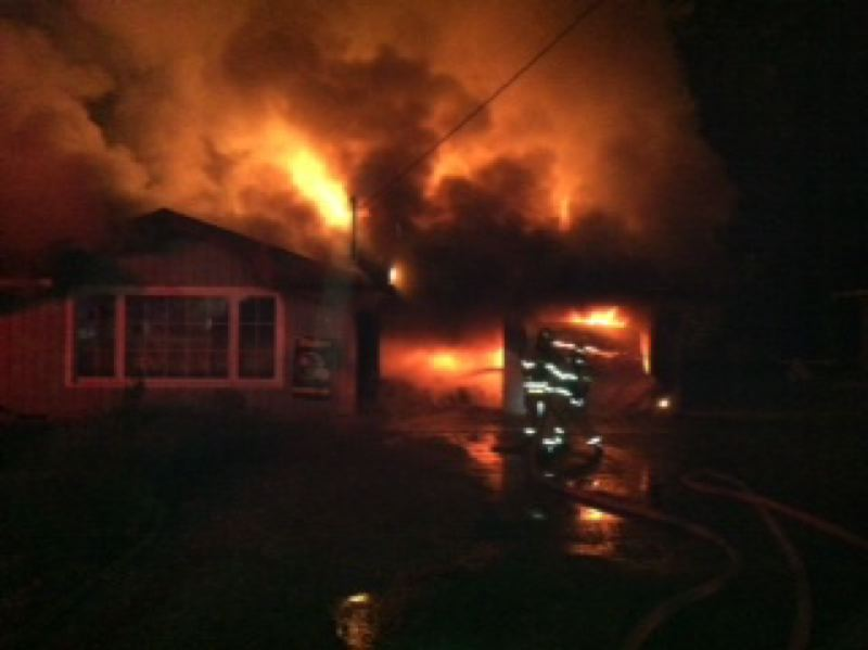 by: COLUMBIA RIVER FIRE & RESCUE - Scappoose Rural Fire District Division Chief Chris Lake said the fire caused significant damage to the home's garage, living room and kitchen as well as smoke and heat damage to the rest of the house.