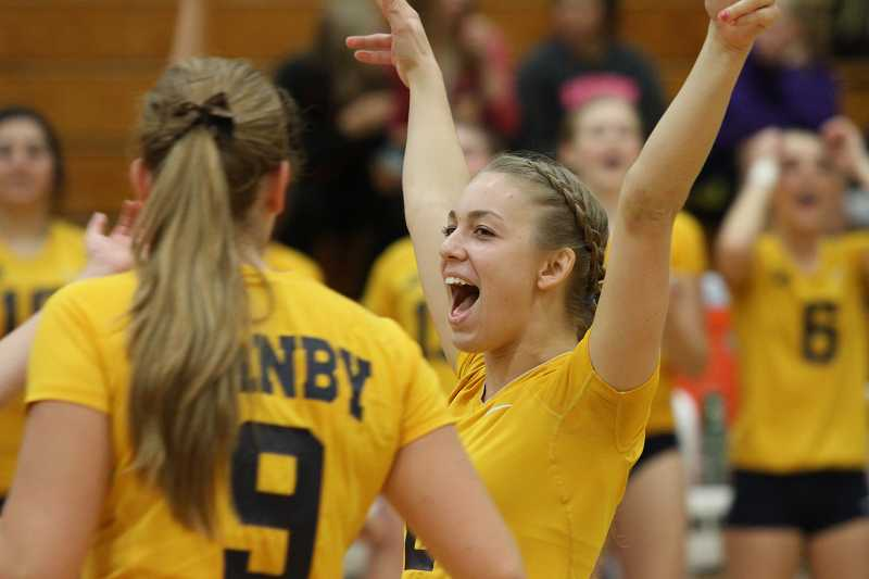 by: KORY MACGREGOR - The Canby volleyball team swept Portland-Westview at home Oct. 26 in a Class 6A play-in game to advance to the state playoffs.