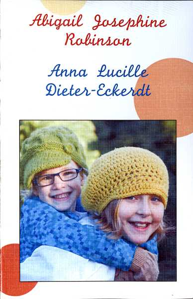 by: COURTESY PHOTO: DIETER-ROBINSON FAMILY - The front page of the program at the Celebration of Life for two Forest Grove stepsisters featured their photo.