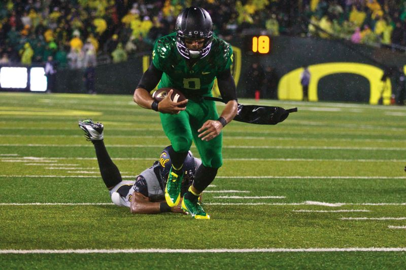 by: TRIBUNE PHOTO: JAIME VALDEZ - Oregon quarterback Marcus Mariotas lone college loss came last year to Stanford. He and the Ducks get a chance for redemption on the road Nov. 7 in a game that could keep UO in national championship contention.