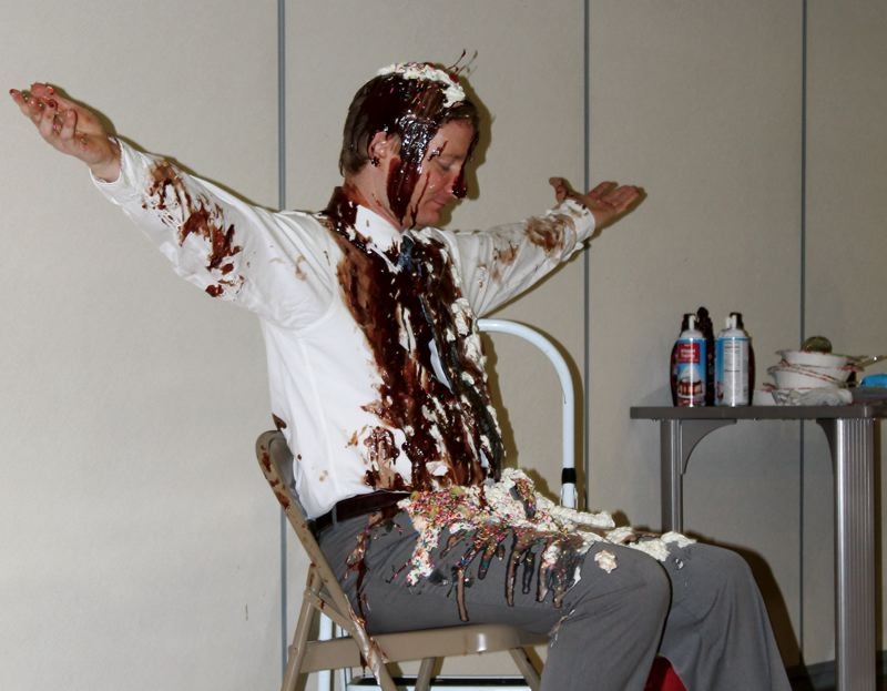 by: OUTLOOK PHOTO: CARI HACHMANN - Butler Creek Prinicipal James Owen, a.k.a. the human sundae.