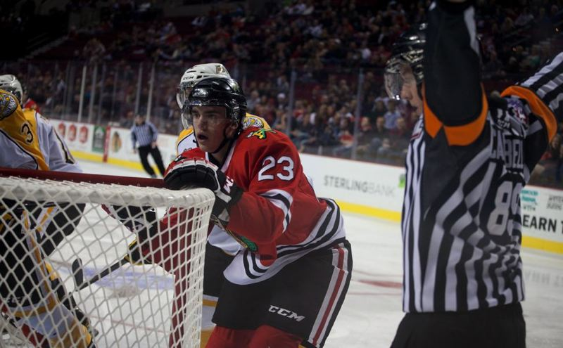 by: TRIBUNE PHOTO: ADAM WICKHAM - Dominic Turgeon and the Portland Winterhawks will take an 11-game winning streak into Wednesday's home skate against Tri-City.