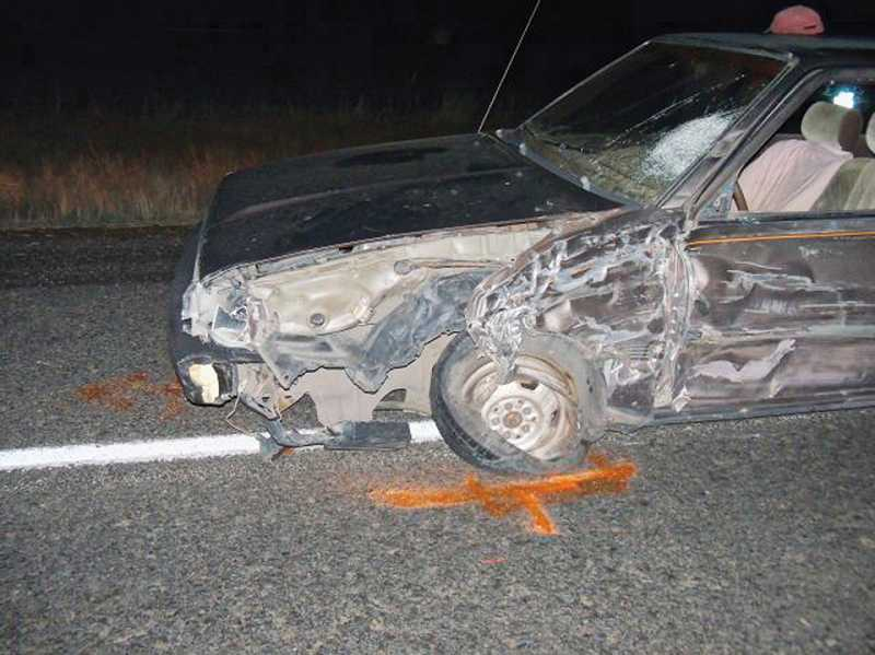 by: PHOTO COURTESY OF OSP - A Bend man was cited for driving under the influence of intoxicants for a crash on Nov. 1,  on U.S. Highway 97.