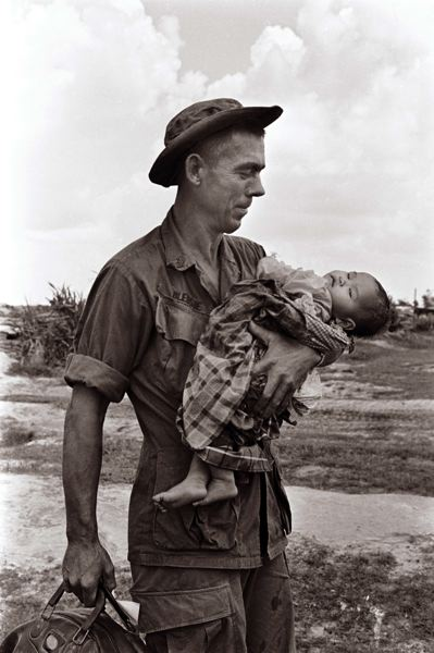 Bledsoe and Baby (the medic is Sgt. Edgar Bledsoe)