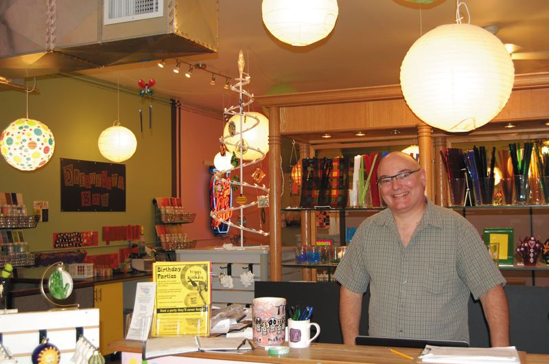 (Image is Clickable Link) Mark Moore, proprietor of Pottery Fun at 7821 SE Stark St. in Montavilla