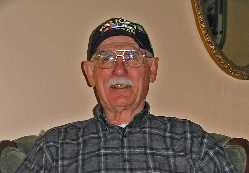 by: RON HALVORSON - Korean War veteran Jim Roppe today.
