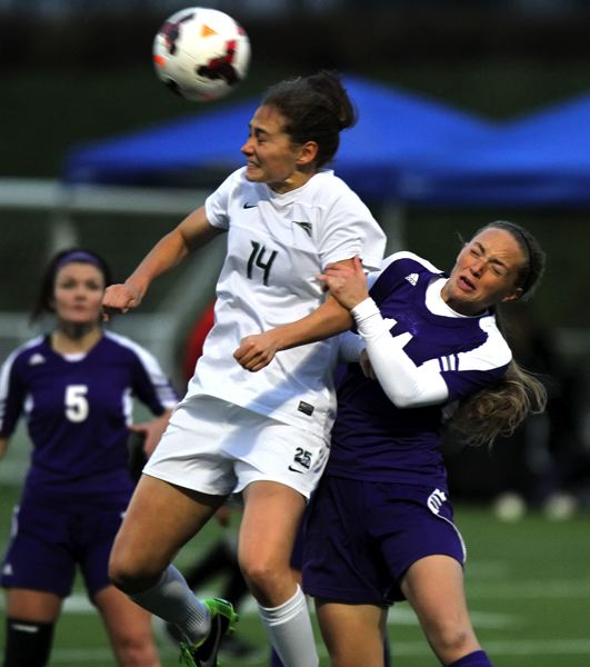 by: TRIBUNE PHOTO: JONATHAN HOUSE - Portland State's Ariana Cooley rises up for the ball during the Vikings' 1-0 loss to Weber State in the Big Sky Conference championship game.