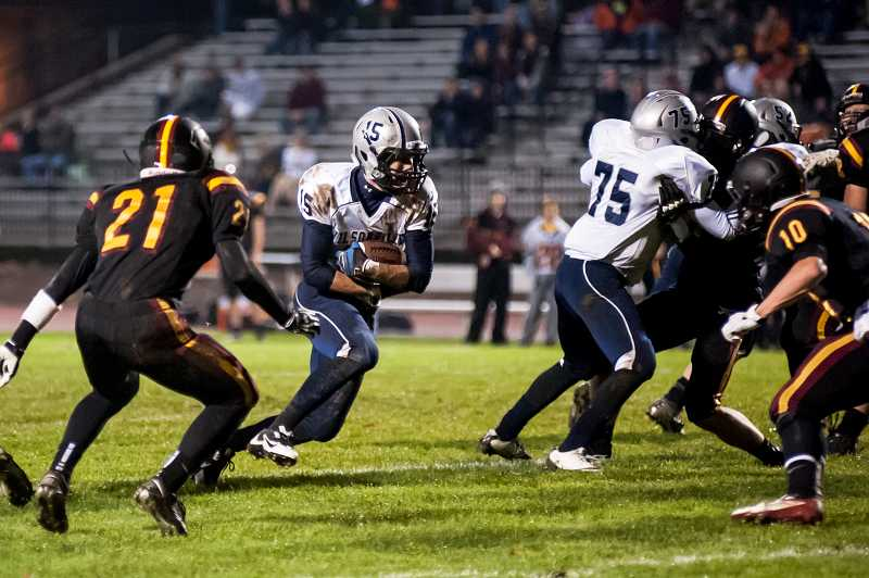 by: GREG ARTMAN - Wilsonville running back Derek Sunkle rushed 31 times for 102 yards, caught two passes for 99 yards and a touchdown and threw for a score in the final game of his high school career Nov. 8 at Crescent Valley. He also tallied 121 yards on two kickoff returns.