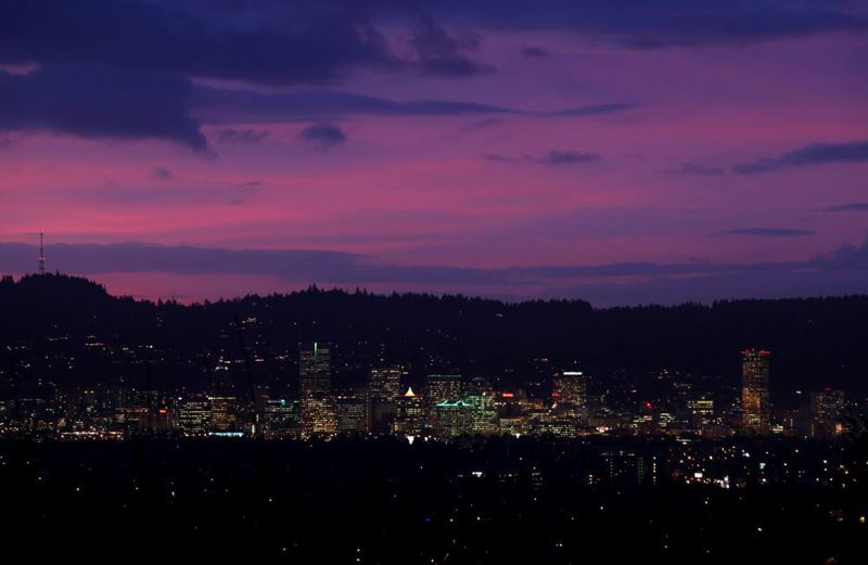 (Image is Clickable Link) by: TRIBUNE FILE PHOTO: JONATHAN HOUSE - Portland's skyline at dusk is one of its most likeable features. The Rose City earned the No. 1 spot on Money Journal's list of the most liked U.S. cities.