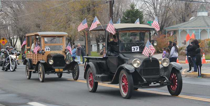 Veterans were given rides in vintage cars.