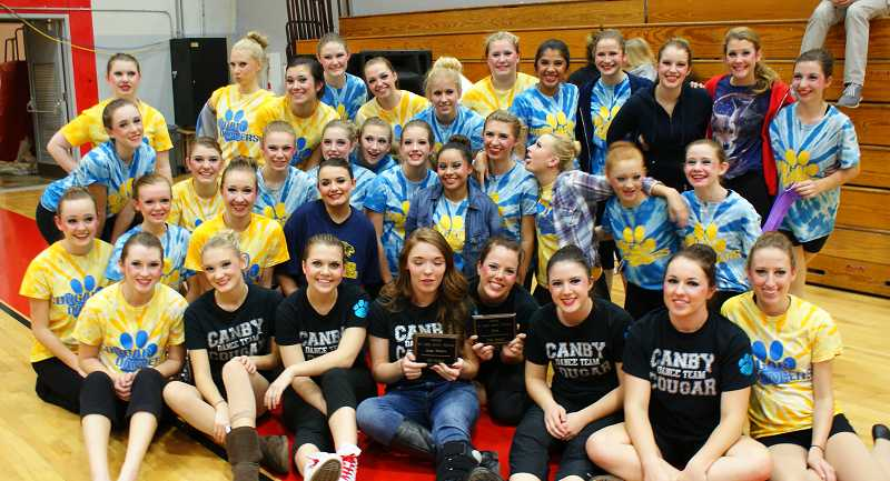 by: SUBMITTED - The Canby dance team took first place in the Modern category during a Nov. 9 competition at David Douglas High School in Portland.
