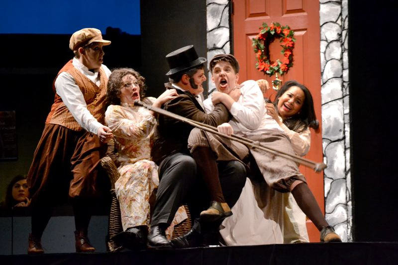 by: CONTRIBUTED PHOTO: BARLOW HIGH SCHOOL - 'Inspecting Carol,' Barlow High School's November production, combines Dickens classic tale with hilarious holiday comedy.
