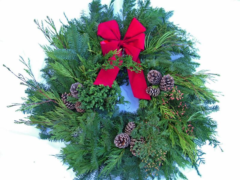 by: CONTRIBUTED PHOTO: COLUMBIAN GARDEN CLUB - A holiday wreath handmade by Columbian Garden Club cost $18.