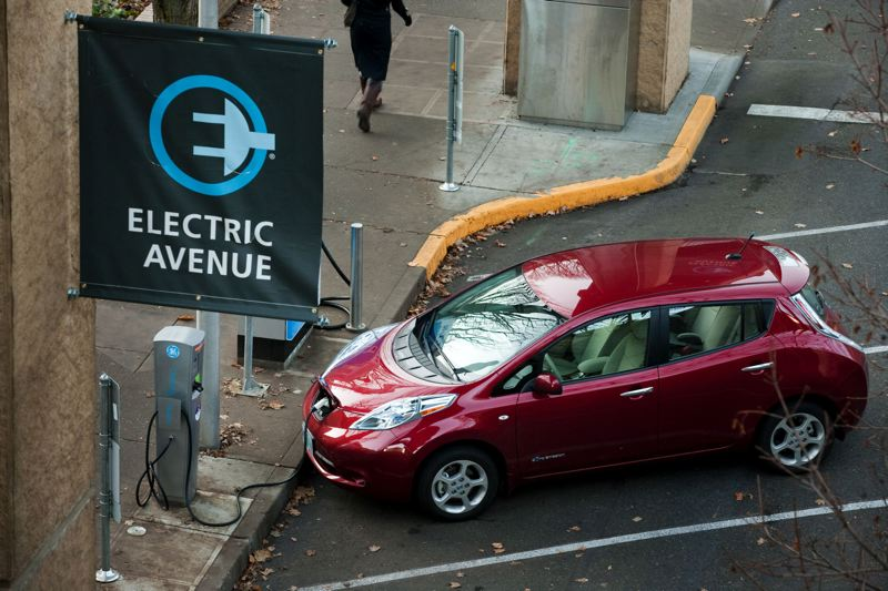 by: TRIBUNE PHOTO: CHRIS ONSTOTT - Eelectric vehicles could contnue charging at PSU until February 15.