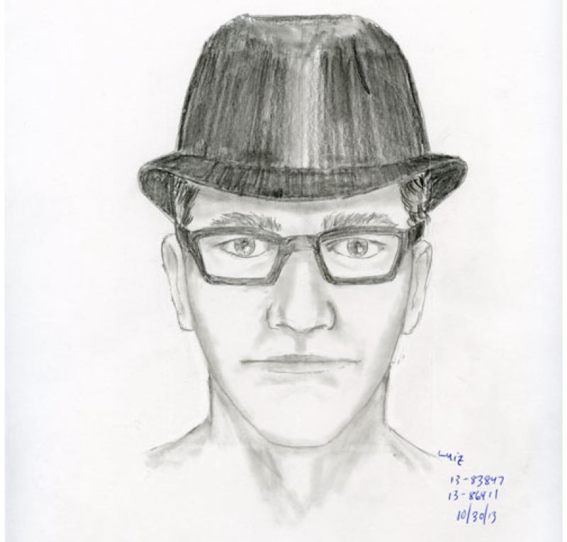 by: PORTLAND POLICE BUREAU - Police are seeking the public's help in identifying the man referred to as the 'Nerdy Bandit' who is suspected in three robberies.