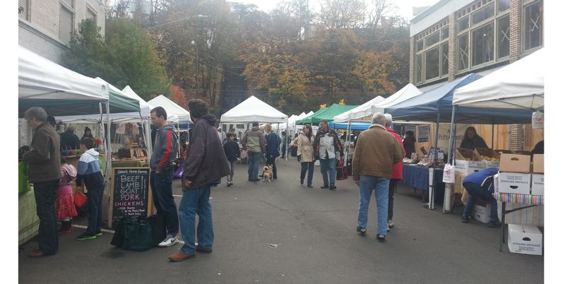 by: PHOTO COURTESY: JACKIE HAMMOND-WILLIAMS - Folks converge on the Downtown Oregon City Winter Farmers Market for produce and much more Saturday, Nov. 9.