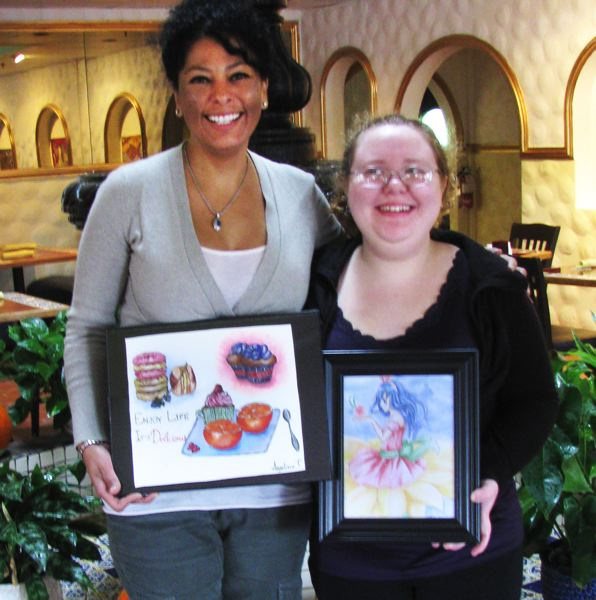 by: OUTLOOK PHOTO: LISA K. ANDERSON - Letty Nunez of Black Cat Cantina and Danielle Mund, a Reynolds High senior, are teaming up for an art benefit from 6-9 p.m. Friday, Nov. 22. Proceeds will benefit a school-based health center or health fair at the high school.