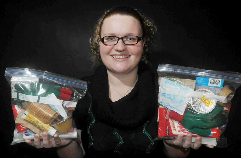 by: GARY ALLEN - Philanthropy - Bonny Dawson started 'Candace Cares,' in memory of her friend Candace Meyenburg who died last year. Through the organization she is distributing 'Blessing Bags,' to those in need.