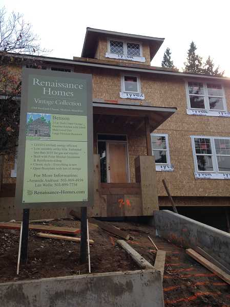 by: SUBMITTED PHOTO - Lake Oswego-based Renaissance Homes is currently building in Portland, Lake Oswego, West Linn and Sherwood. This Vintage Collection home is being constructed in the Clinton neighborhood of southeast Portland.