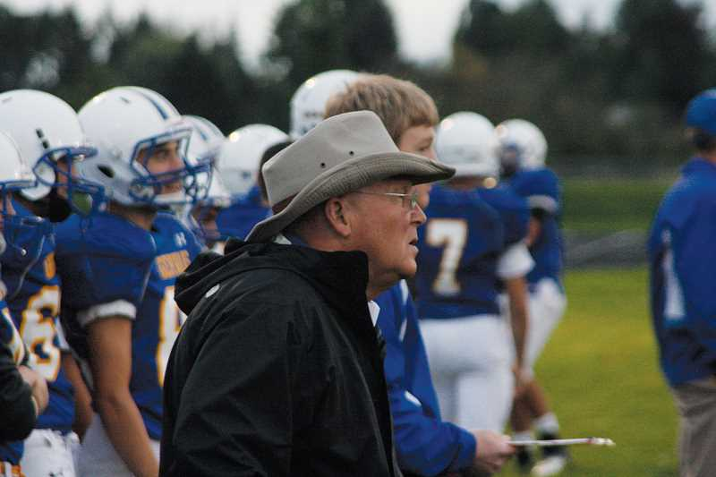 by: PHIL HAWKINS - Gervais football coach Duane Riddell, West Valley Coach of the Year