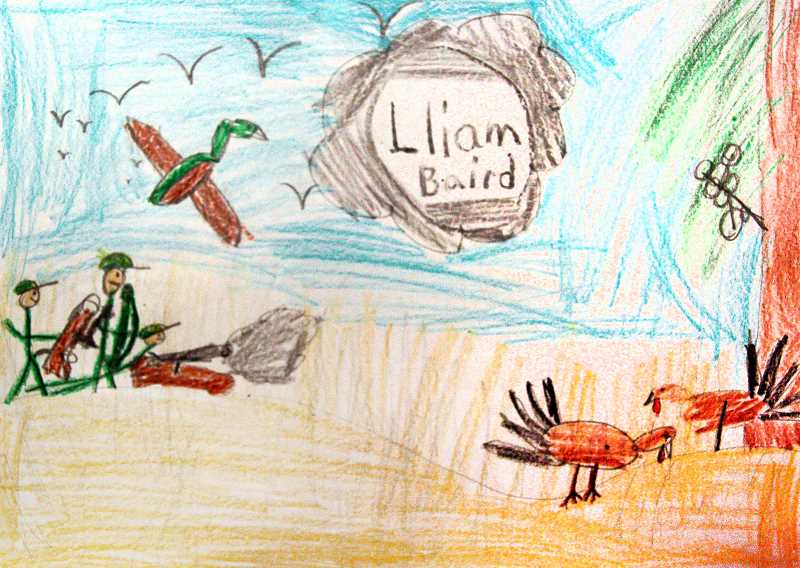 Art by Lliam Baird, Third Grade, Clackamas River Elementary, Mr. Syring