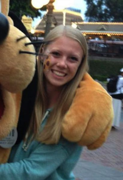 by: SUBMITTED - Madison Focht poses with Disneys Pluto.