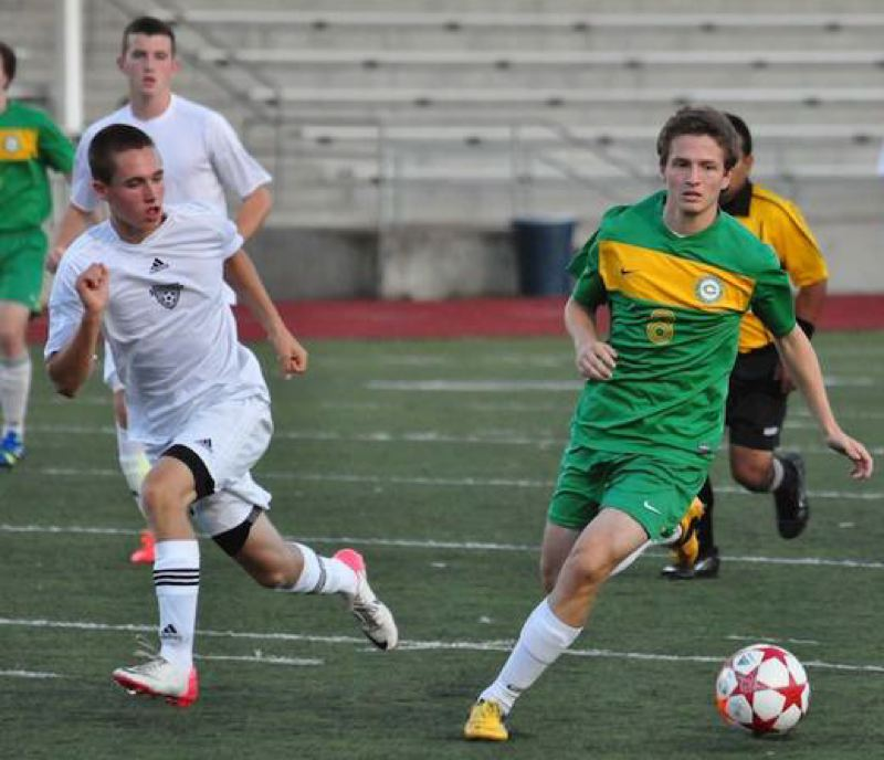 by: COURTESY OF GARY KEMP - Cleveland's Daniel Merchant (right) has been named PIL 5A boys soccer player of the year.