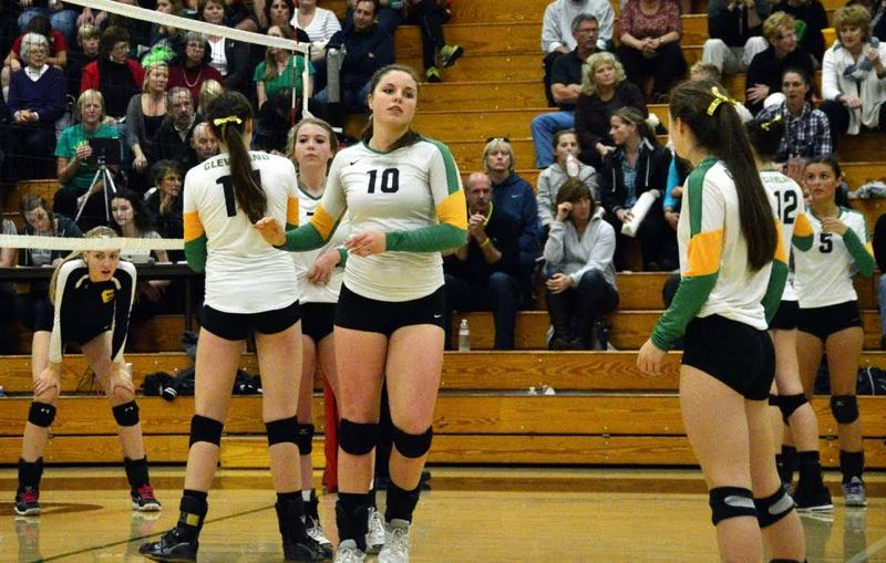 by: COURTESY OF GARY KEMP - Taylor Ristvedt (10) of Cleveland High has been voted player of the year in volleyball for the Portland Interscholastic League.