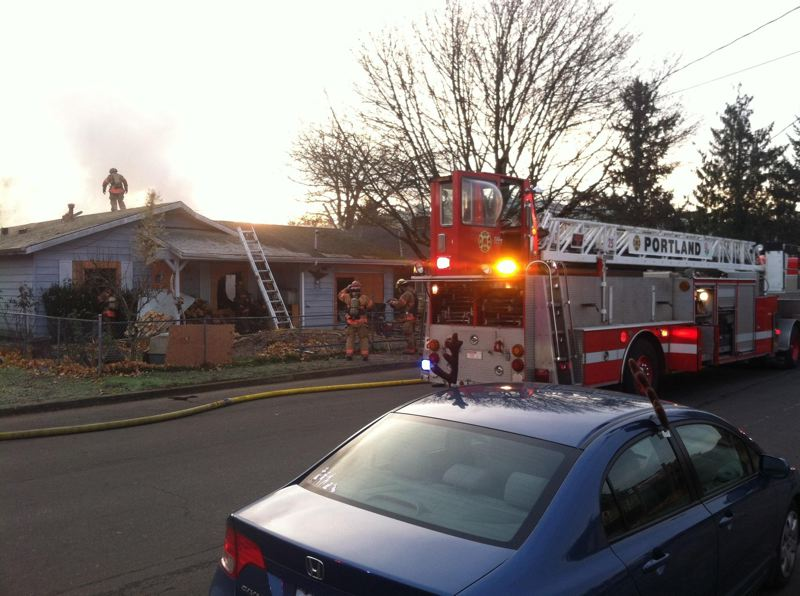 by: PORTLAND FIRE & RESCUE - No one was injured in this fire that damaged a Southeast Portland house.