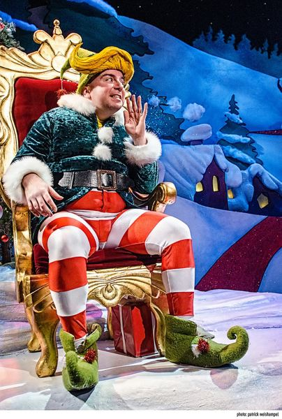 by: COURTESY OF PCS/PATRICK WEISHAMPEL - Darius Pierce returns as Crumpet the Elf in The Santaland Diaries at Gerding Theater.