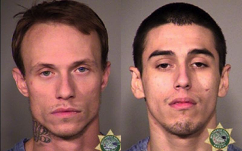 by: MULTNOMAH COUNTY SHERIFF'S OFFICE - Ryan Beisley, left, and Travis Johnson