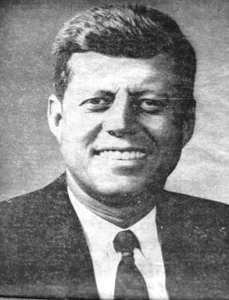 by: ARCHIVE PHOTO - A 1963 issue of Estacada's Clackamas County News ran this front page photograph with this caption: 'Pictured is our late president, John Fitzgerald Kennedy, who was shot down in Dallas, Texas, last Friday. The nation and the world mourns the passing of this young leader whose grave in Arlington National Cemetery will be marked by an eternal flame. He was honored at his funeral by heads of government and representatives from 50 nations. Only Cuba and Communist China were conspicuous in their absence. Retribution for the accused assassin, Lee Harvey Oswald, for he in turn was murdered by Dallas night club operator Jack Ruby, as Oswald was being transferred from one jail to another for greater security.'