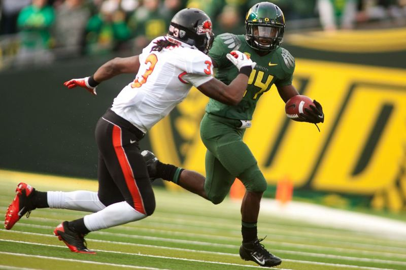Kenjon Barner had one touchdown rushing and another receiving for Oregon.