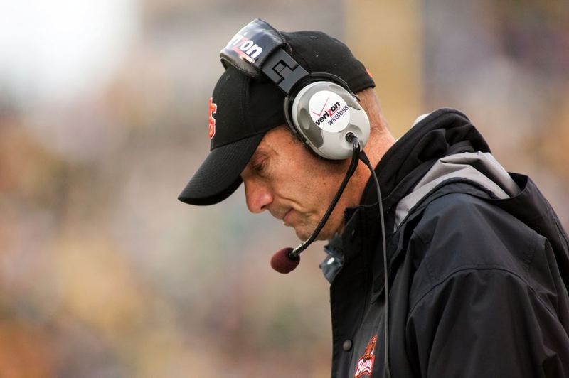 Oregon State coach Mike Riley found it hard to watch some of the second half.