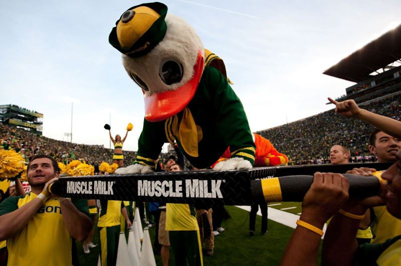 The Duck had to do a lot of push-ups.