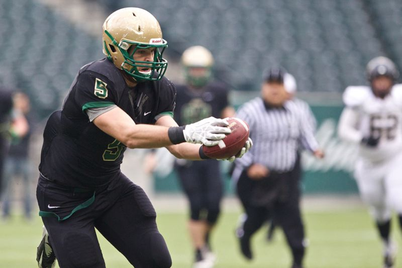 Jesuit's Christian Martinek makes a reception.